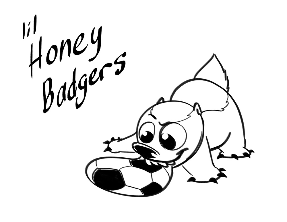 Lil Honey Badgers soccer team logo