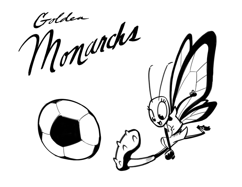 Golden Monarchs soccer team logo