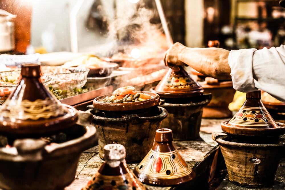 Food - variety of prepared foods in traditional bowls.jpg