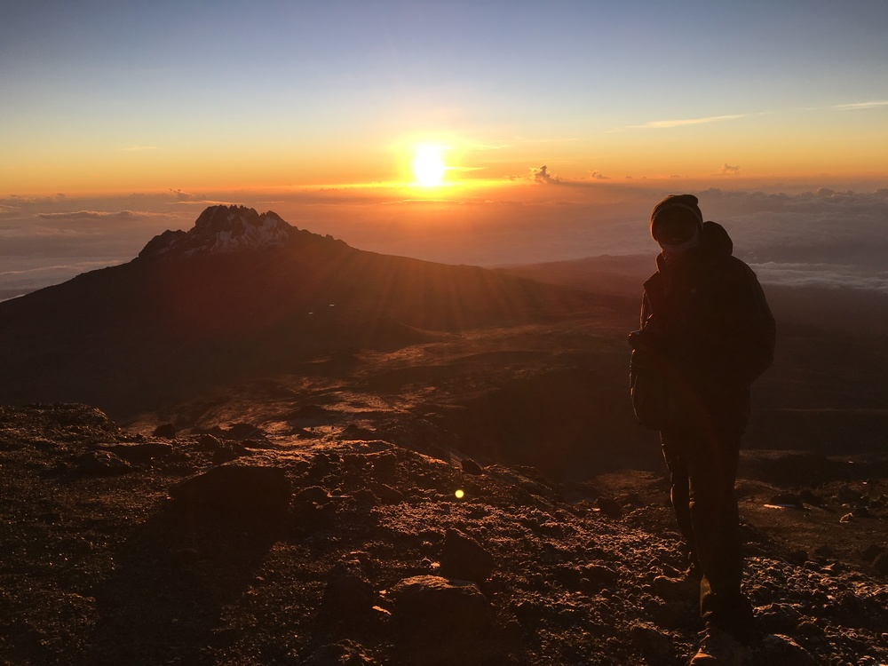 Kilimanjaro - Piush & sunset.JPG