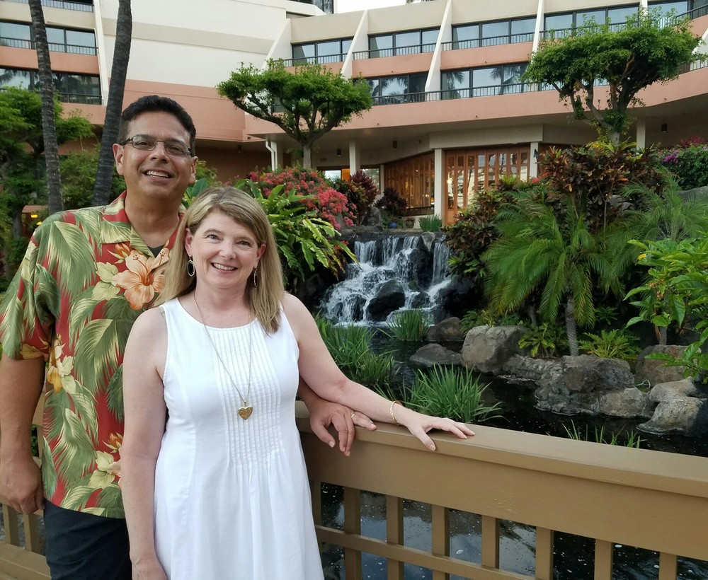 Henry & Pam Lopez celebrate their 20th Wedding anniversary in 2016 in Maui, hawaii