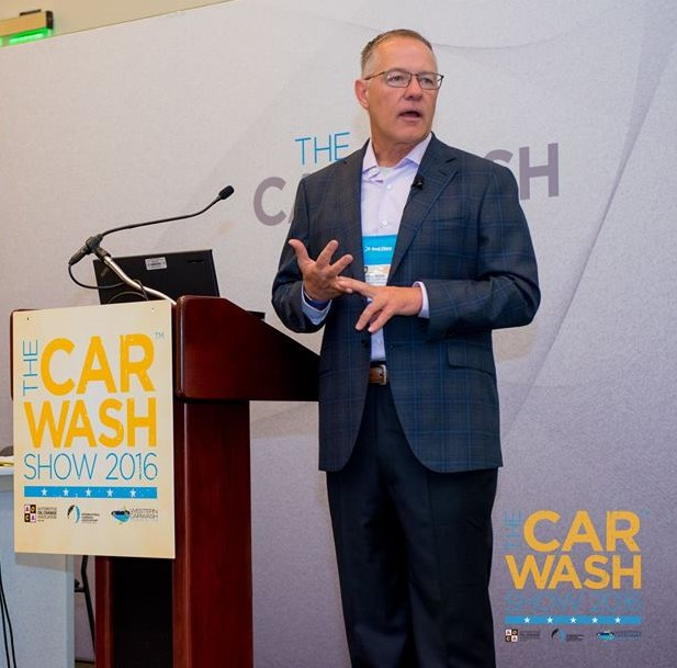 David Begin speaking at The Car wash Show