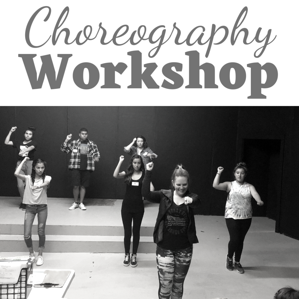 "Choreography Workshop   Tuition:  $100   Aug. 12th-16th    ages 12+  10:00 a.m. - 12:00 p.m.   ages 6+  12:30-2:30 p.m.    SALE* Pick two consecutive camps and stay for lunch in between. Use coupon code PICK-TWO to receive $40 off your second camp! Can be paired with Nail that Audition. (Recommended)     Description:  Do you struggle with learning choreography? Many of our theatre students have admitted that dancing is their weakest point when it comes to musical theatre. Many artists ""missed the boat"" on taking dance lessons and now feel too behind to develop in this area of performing. During this choreography workshop, students will learn to master many of the basic steps that are used in oodles of shows. Spend the week getting comfortable with your two left feet!"