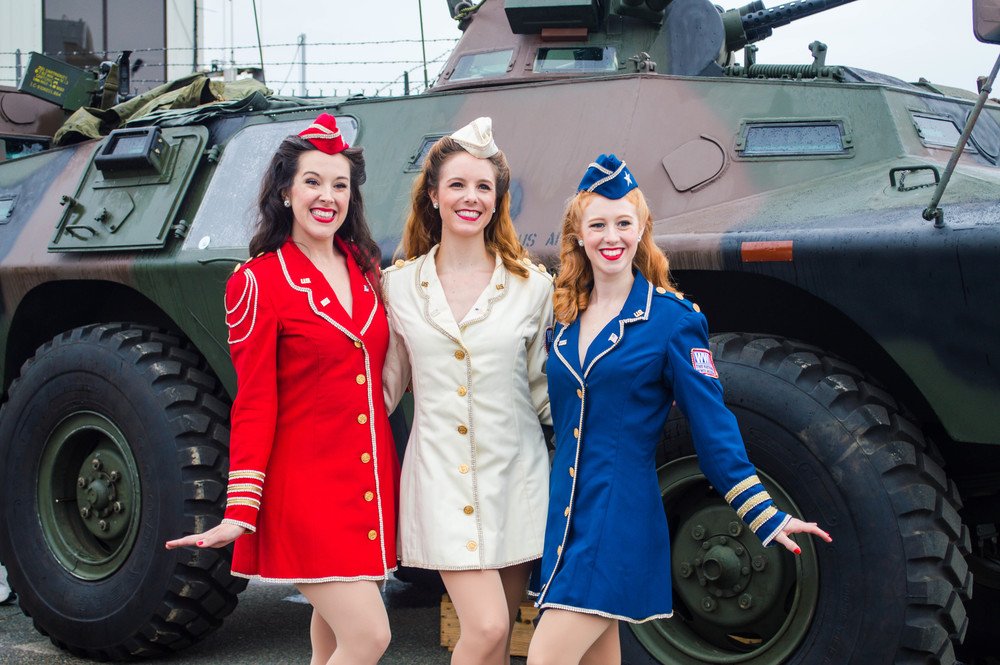 Photo by CM: Victory Belles with Armored Bacdrop