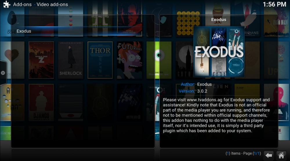 16: click on exodus