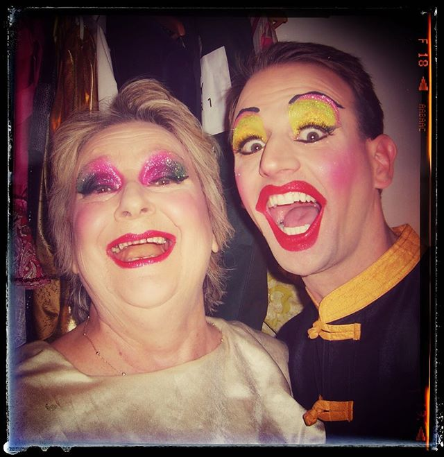 """In loving memory & celebrate the honour of knowing the exceptional Caroline Hughes. Already missed, never forgotten, the finest and most respected peeps in the business. """"The Queen is Bins"""". Kind and generous, wise and infectiously funny! We miss you deeply. RIP dear friend. . . Backstage, The Garrick Theatre, West End Production of Aladdin, thanks for all the happy memories, RIP dear friend. . #thebest #missed #rip #love #friends #design #interiordesign #interiordesignerspantomime #westend #theatre #whataweek"""