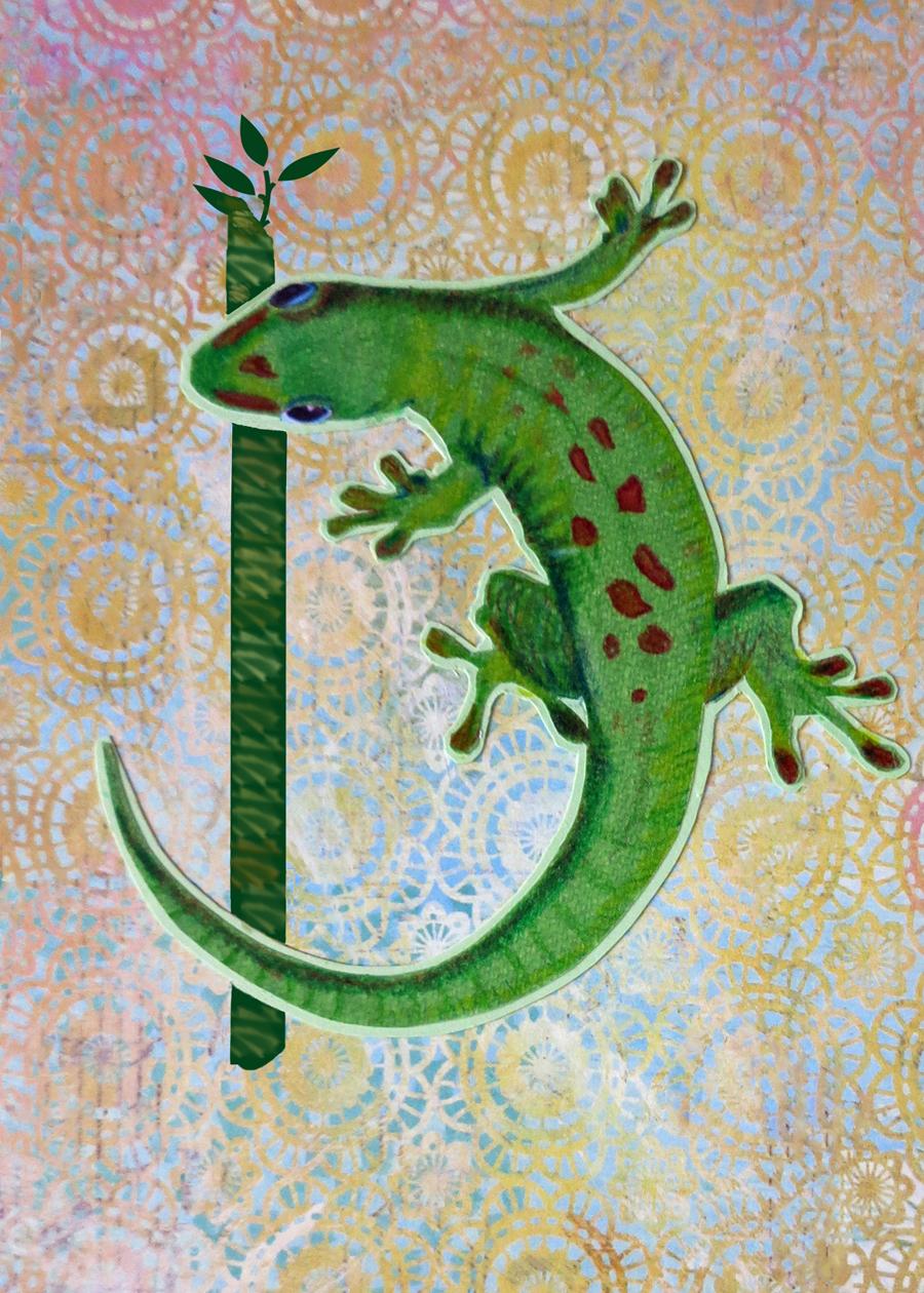 Letter D Gecko