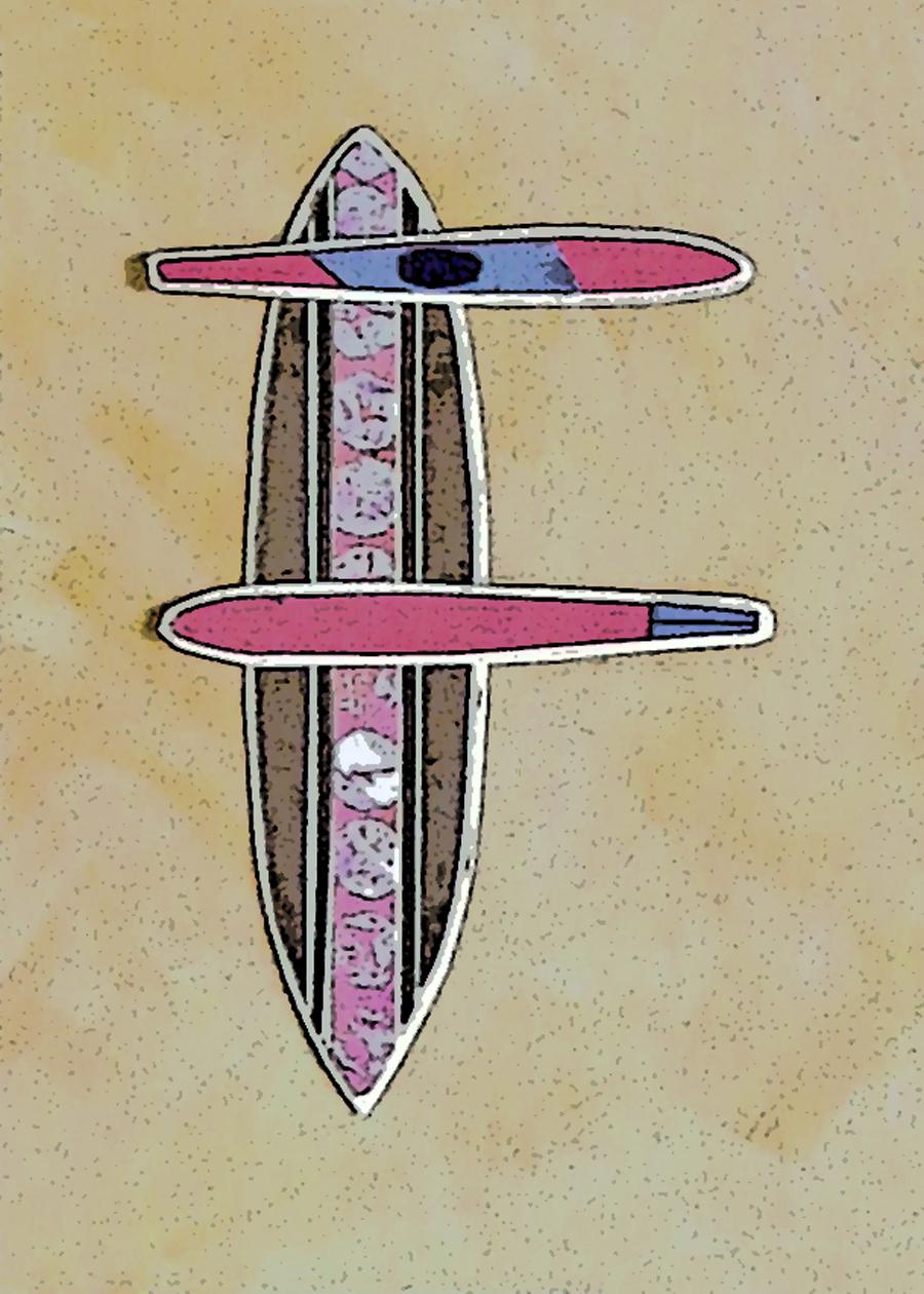 Letter F Surfboard