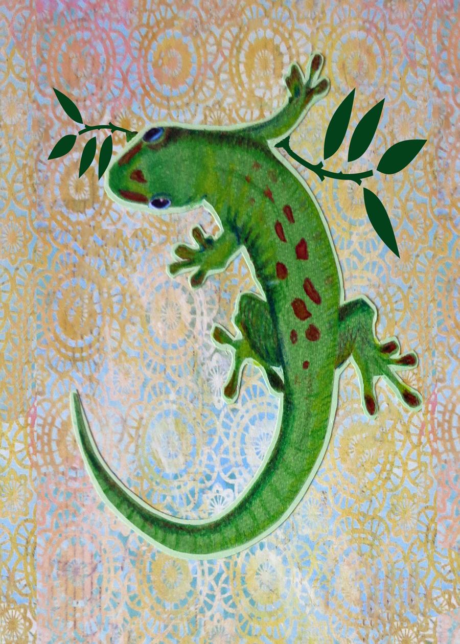 Letter J Gecko