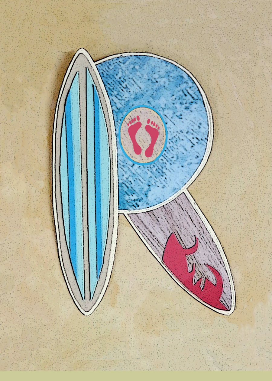 Letter R Surfboards Blue