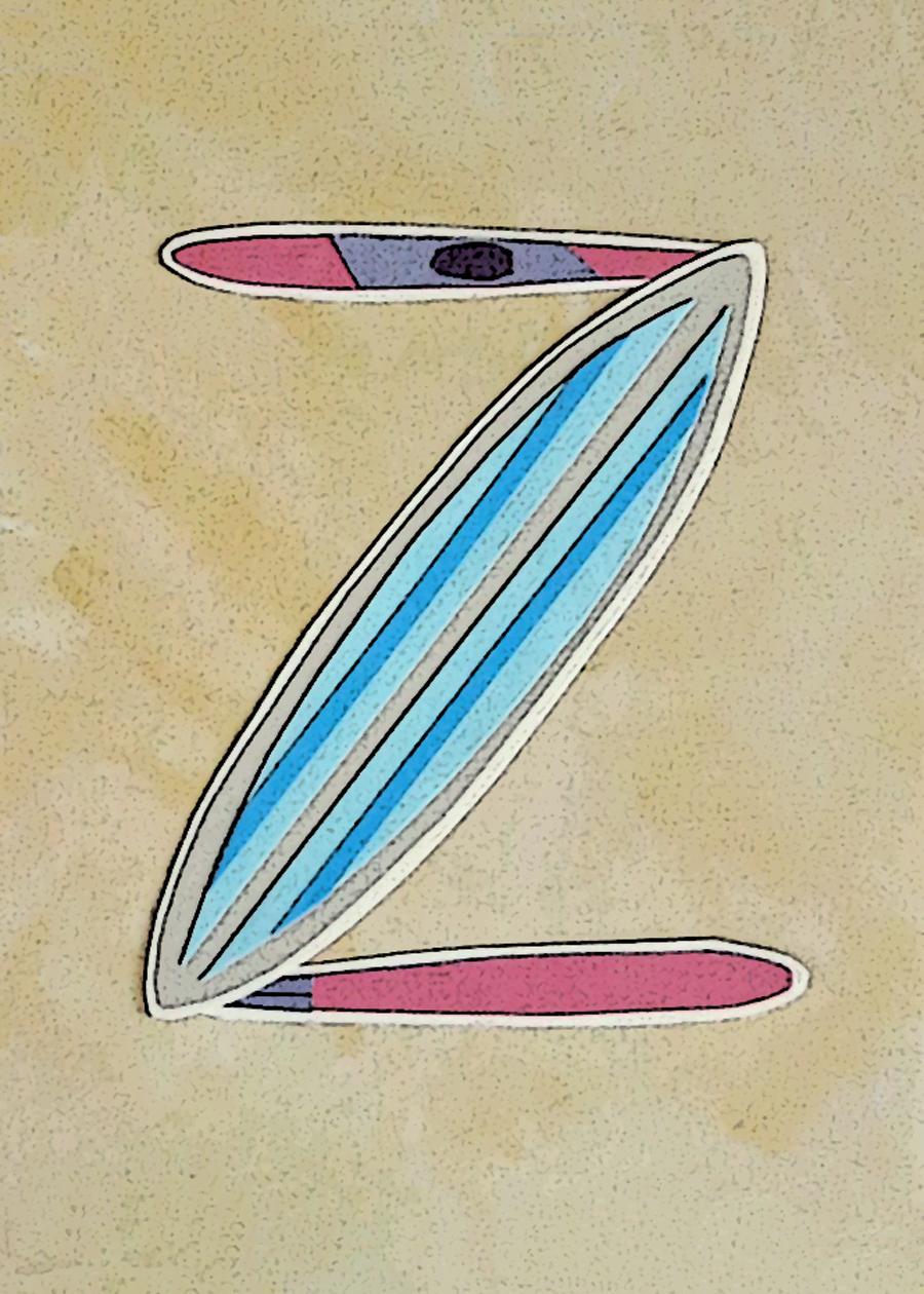 Letter Z Surfboard