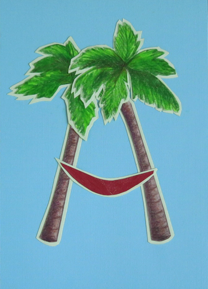 Letter A Palms with Hammock