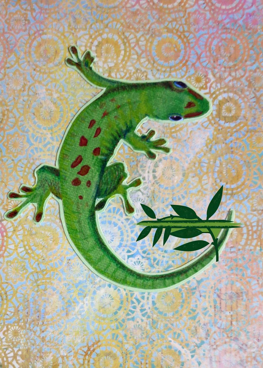 Letter G Gecko