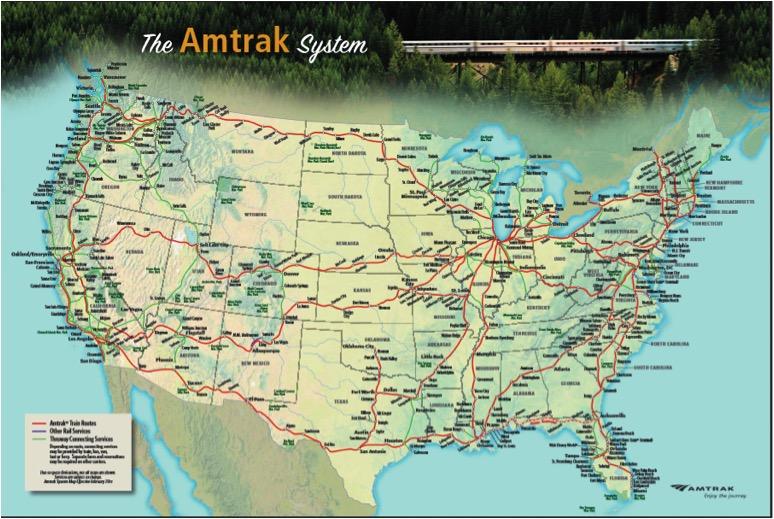 Us Passenger Train Routes Map - Us train track map