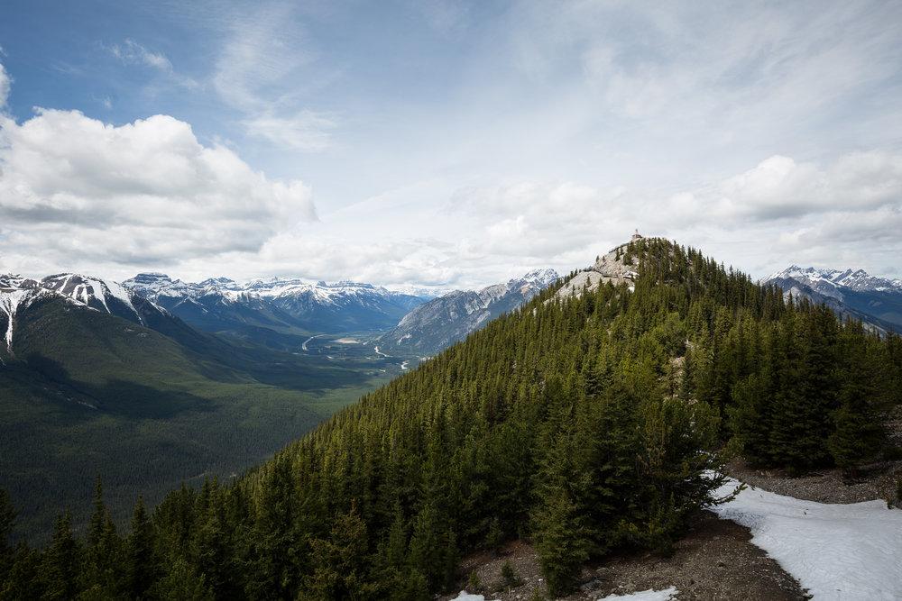 Blick vom Sulphur Mt.