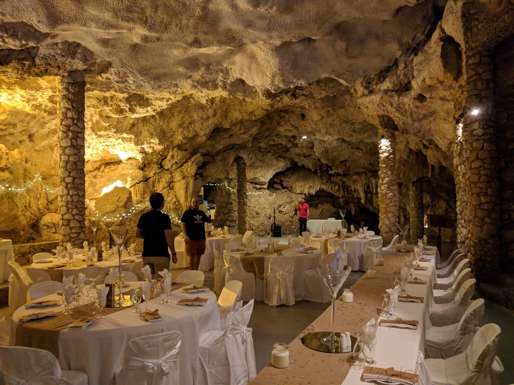 This is the interior of the cave, dressed for a wedding in this case but it will give you an idea of what to look forward to. We have a big plan for atmospheric lighting on the night which will enhance your experience of the music.