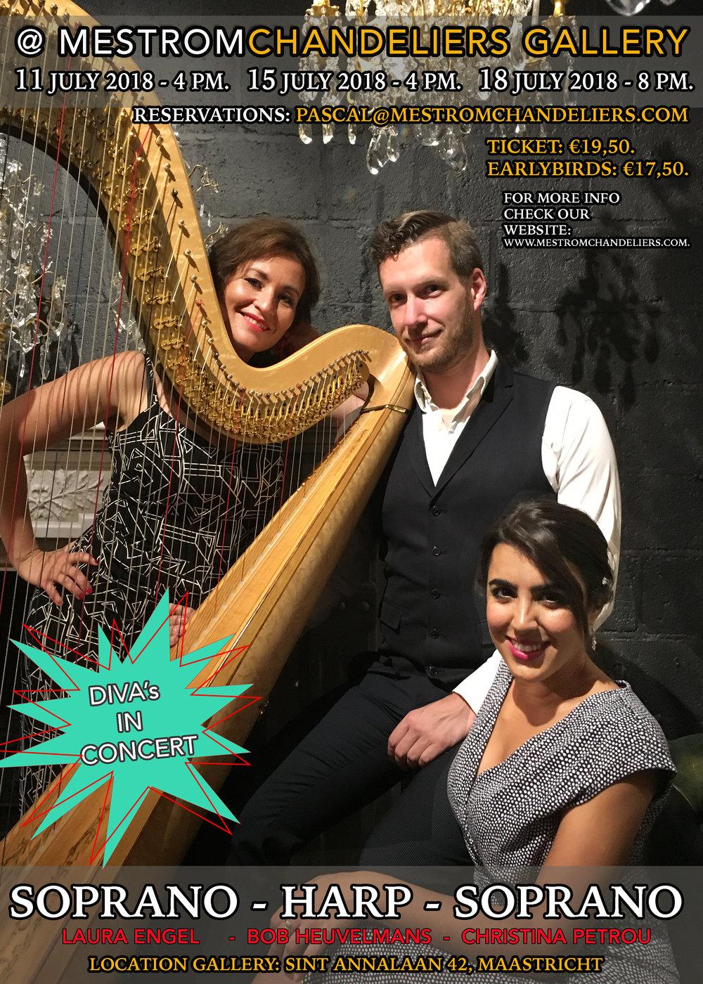 Diva's in Concert - 2 sopranos and a harp...quite a unique combination.