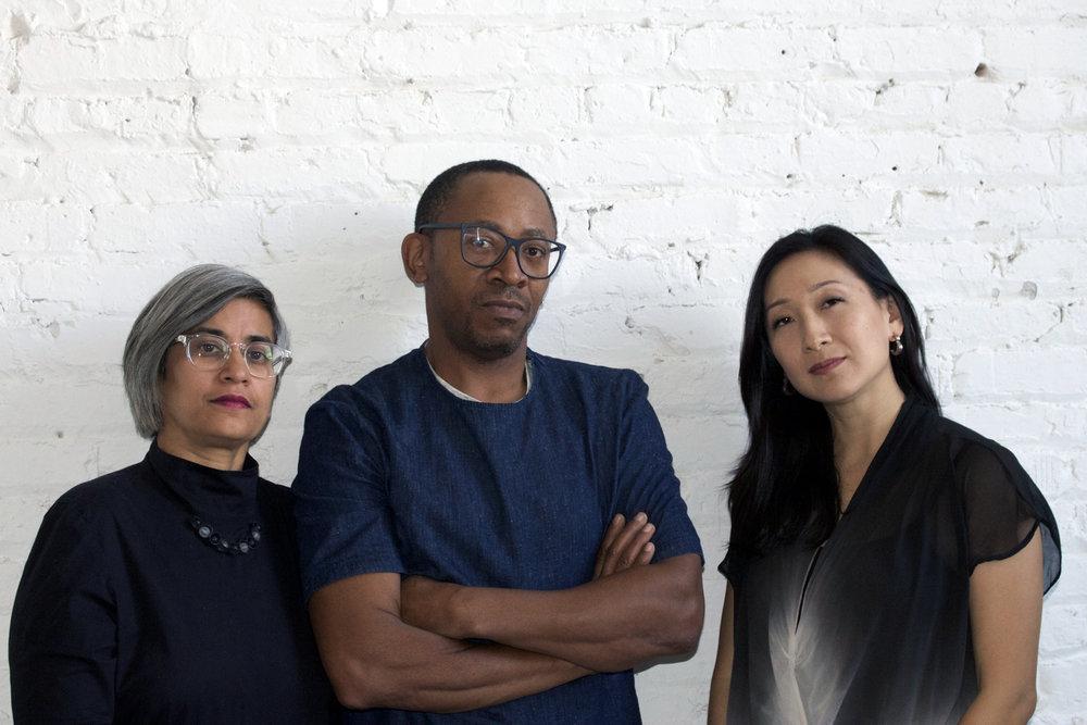 Monica Chadha, Norman Teague, and Jennifer Park