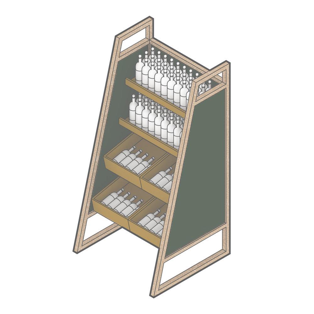 Custom Millwork - Wine Display