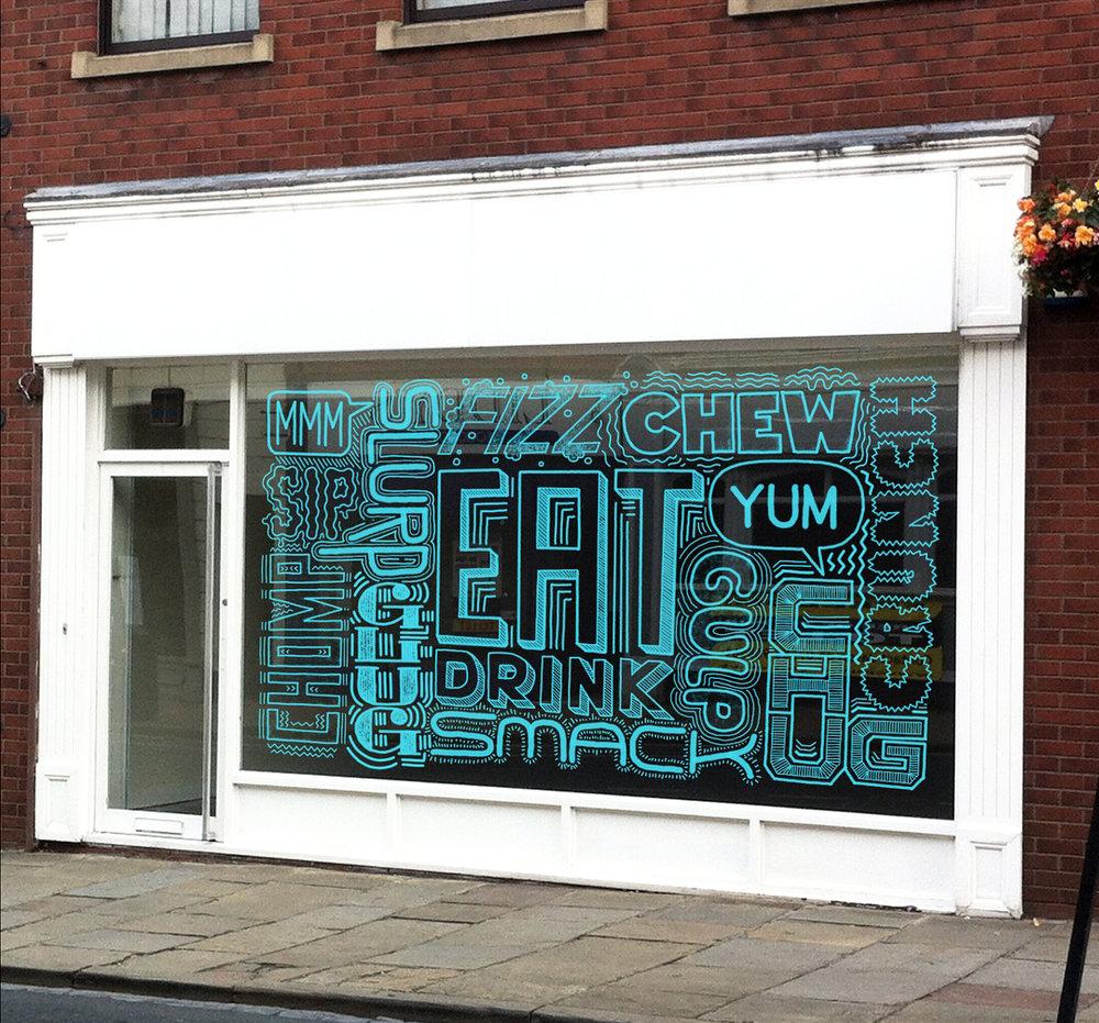 Concept • Restaurant window mural