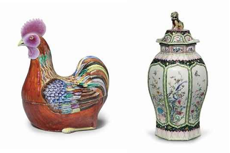 From MANDARIN & MENAGERIE: THE SOWELL COLLECTION Part I (left) and Part II (right)From Christie's.com