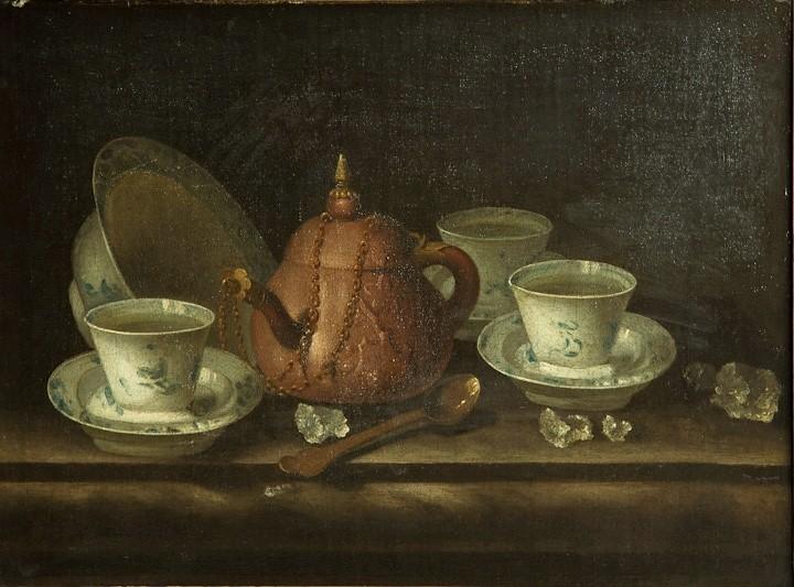 """""""Still Life with Tea Wares"""" by Pieter Gerritsz van Roestraten."""