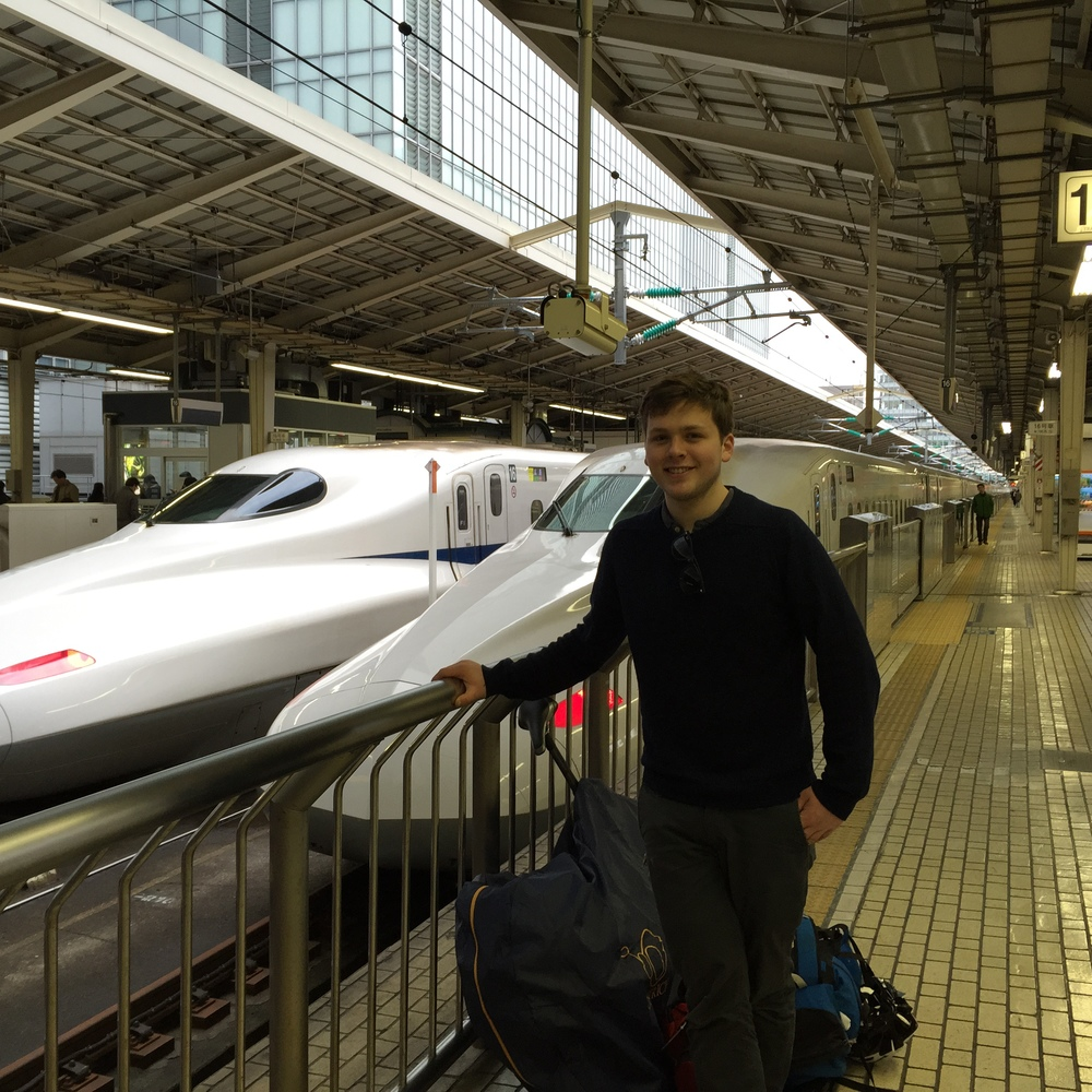 Using the Shinkansen with my bike behind me