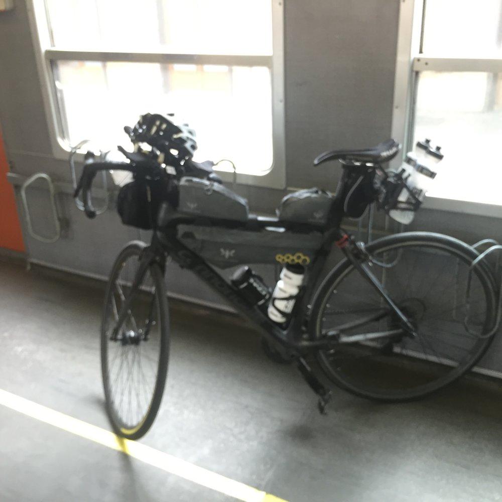 Sad looking on bloody Italian train - featuring new equipment