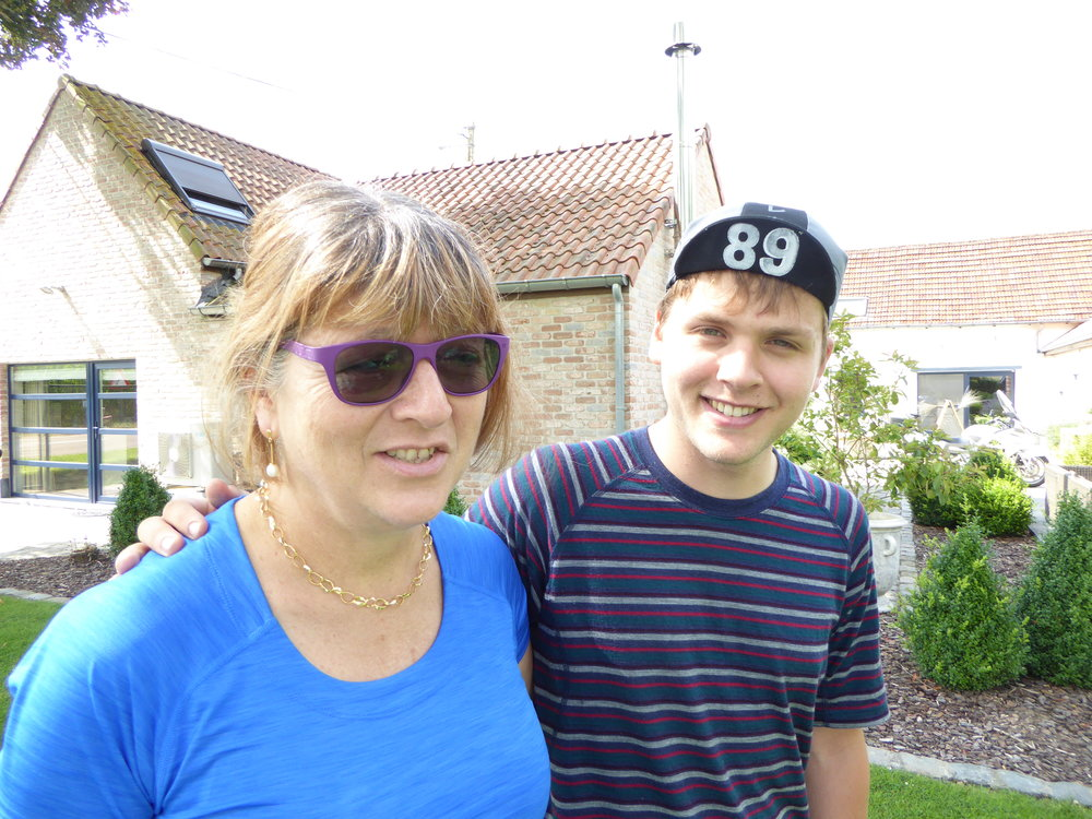 Me and Mum before I leave