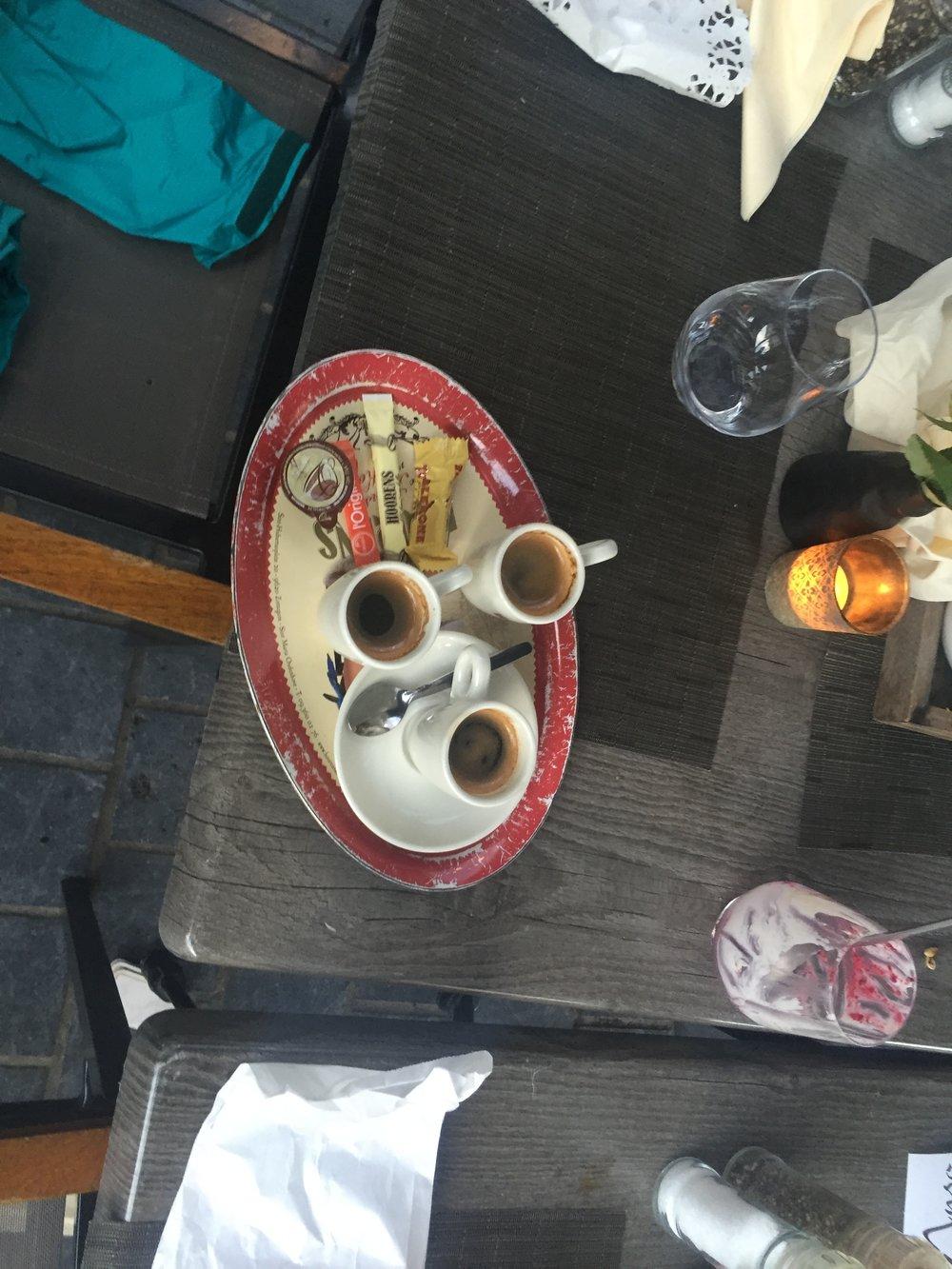 3 Espressos before I leave
