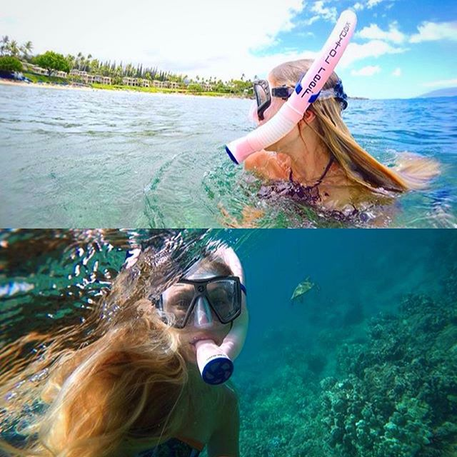 @saltyshelb showing you how it's done off shore🌴🌴 #kapitolreef #breatheyourbest #hawaii #snorkeling