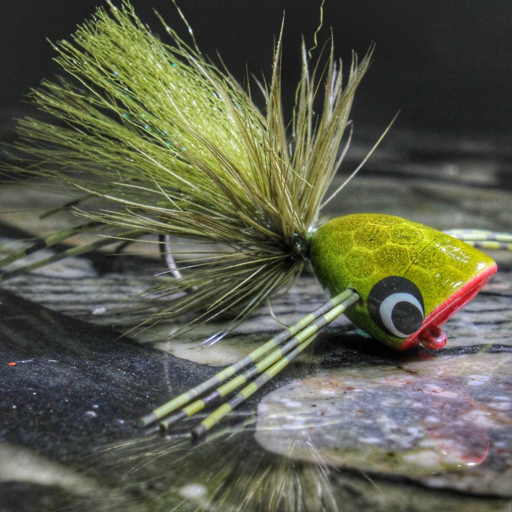 Frog/Olive Hard Foam Popper