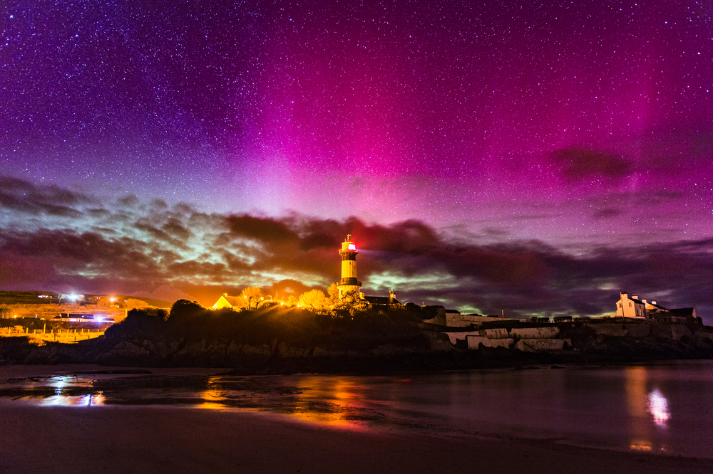 Shrove Lighthouse Northern Lights