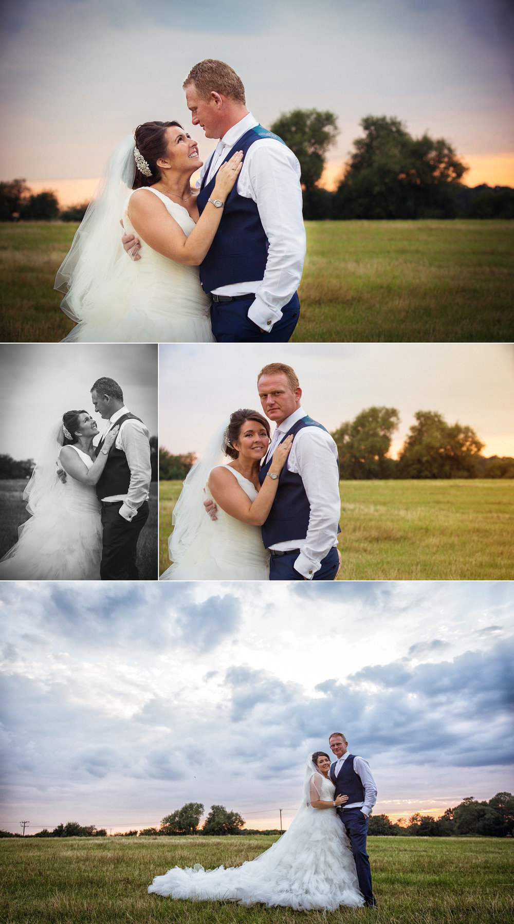 Wedding at Old Brook Barn - Portraits at Sunset