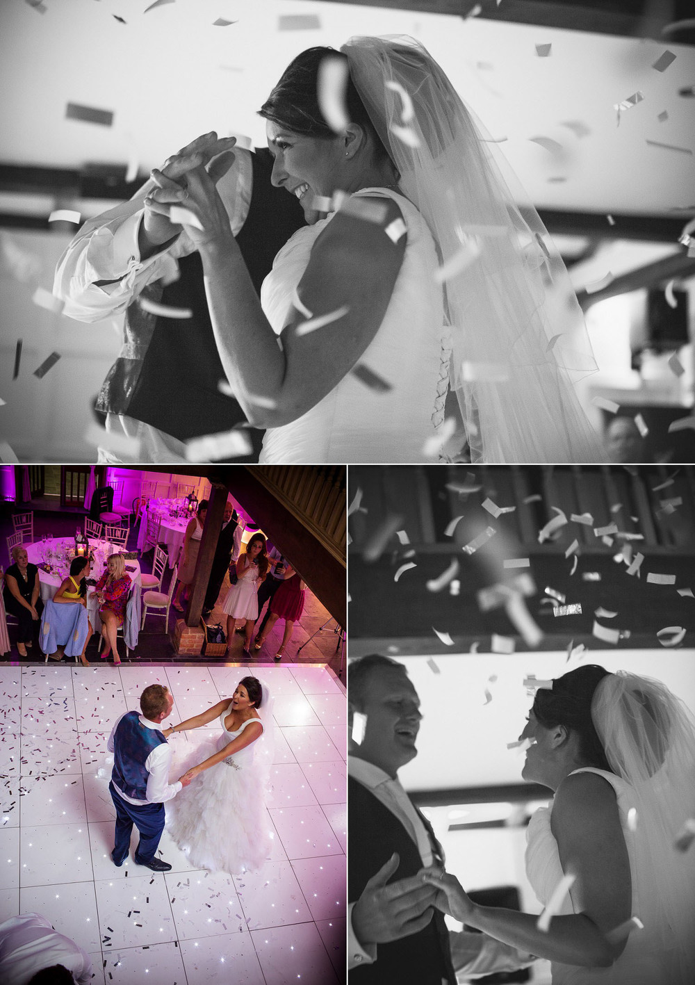 Wedding at Old Brook Barn - First Dance and Confetti