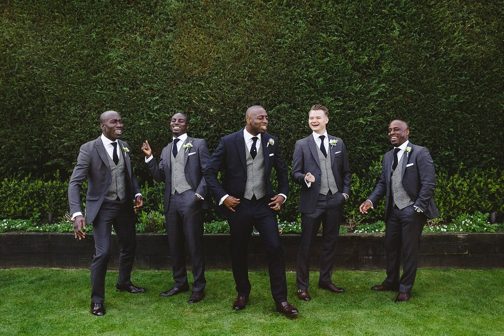 Gaynes Park Wedding Photographer - Grooms Party