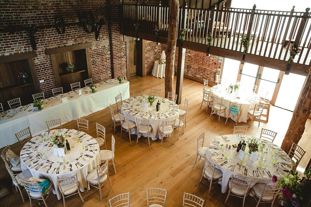 Gaynes Park Essex Wedding Barn from the Gallery
