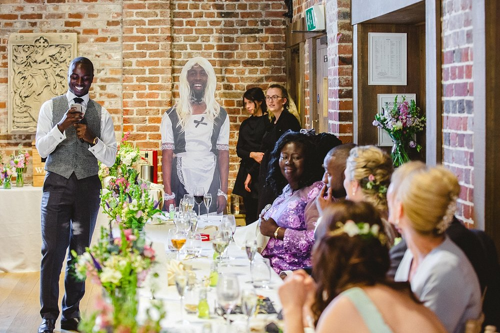 Gaynes Park Wedding - Wedding Essex Photographer - Best Man Speech