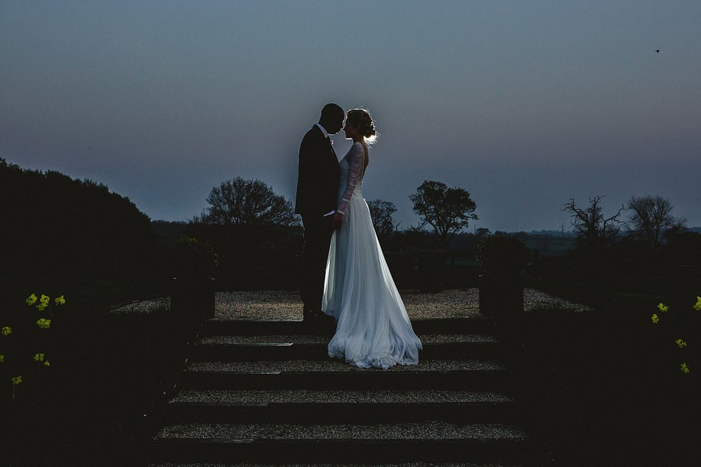 Gaynes Park Wedding Photographer - Evening Couple Portrait