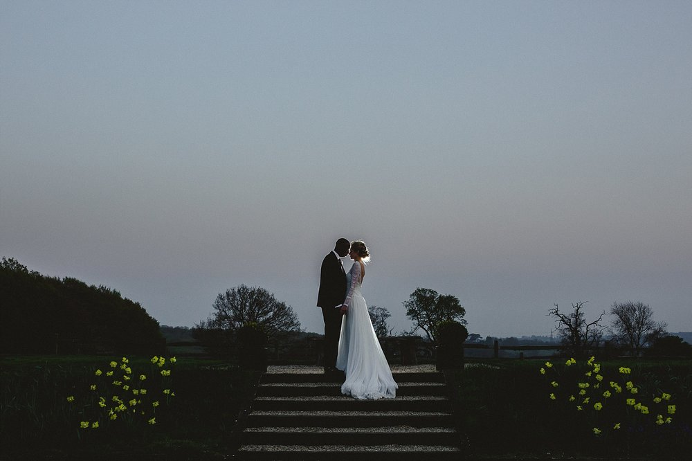 Gaynes Park Essex Wedding Photographer - Evening Portrait