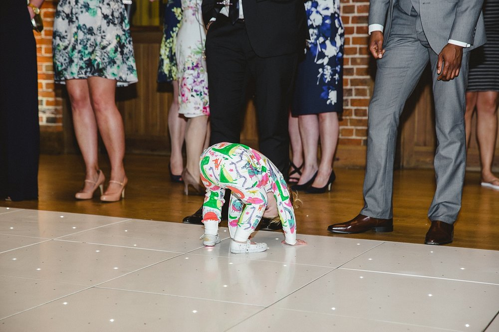 Gaynes Park Wedding Evening Party - Children on the dancefloor