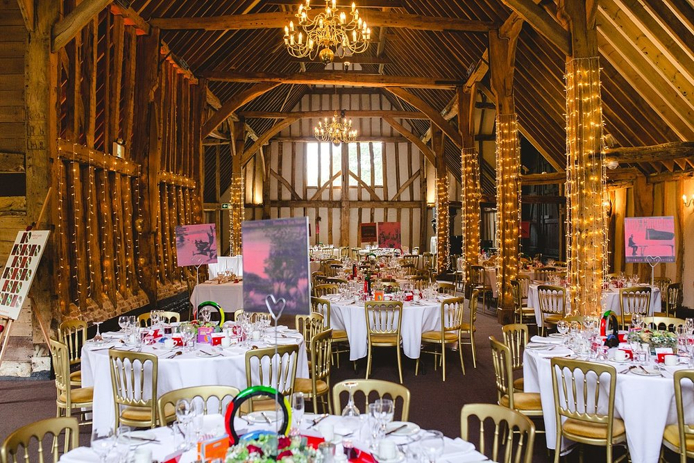 Blake Hall Barn Wedding Reception
