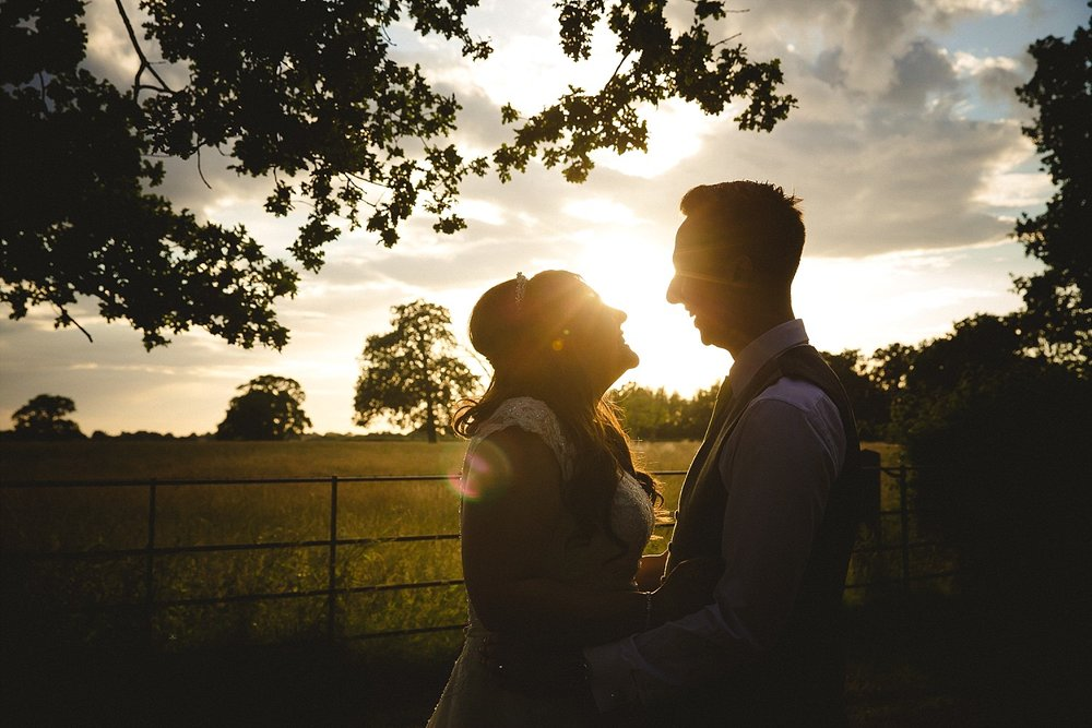 Blake Hall Essex Wedding Portraits at Sunset