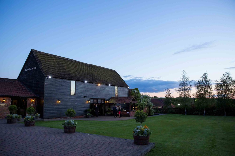 Crondon Park Wedding Photographer - Essex Barn Wedding Venue at Sunset