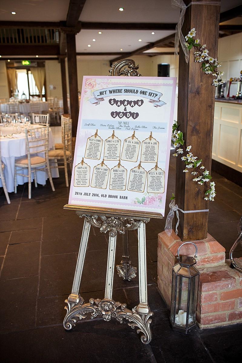 Old Brook Barn Essex Outdoor Wedding Reception Table Plan