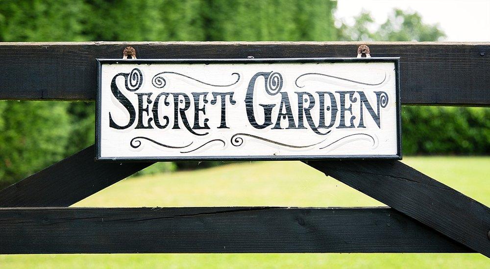 Old Brook Barn Essex Outdoor Wedding Secret Garden