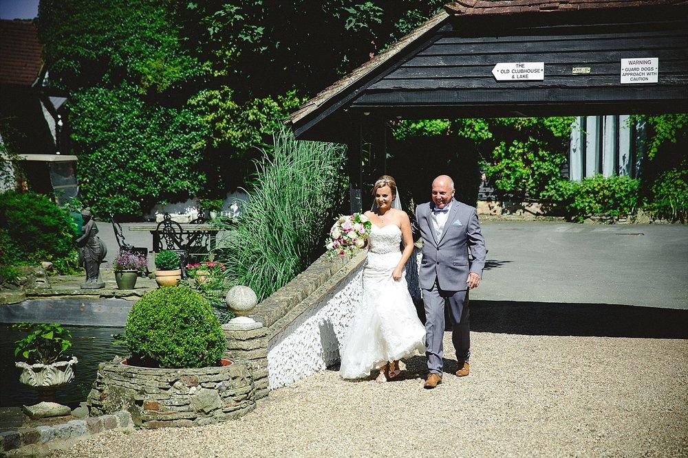 Old Brook Barn Essex Wedding Ceremony