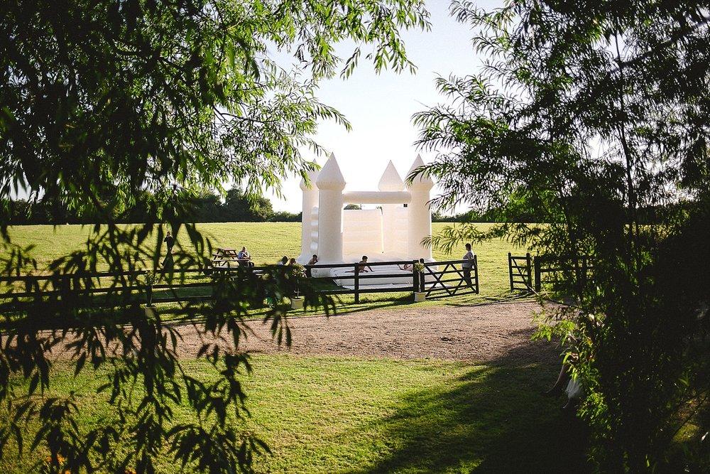 Old Brook Barn Essex Outdoor Wedding Bouncy Castle
