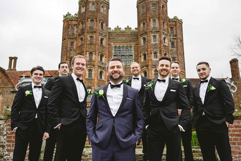 Wedding Photographer Essex - Layer Marney Tower Grooms Party