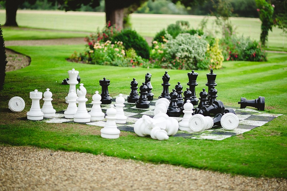 Gosfield Hall Wedding Photographer - Chess Board